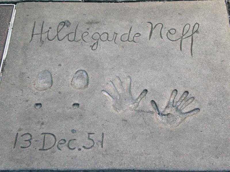 WalkofFame (Los Angeles): Hände und Füße Hildegard Knet