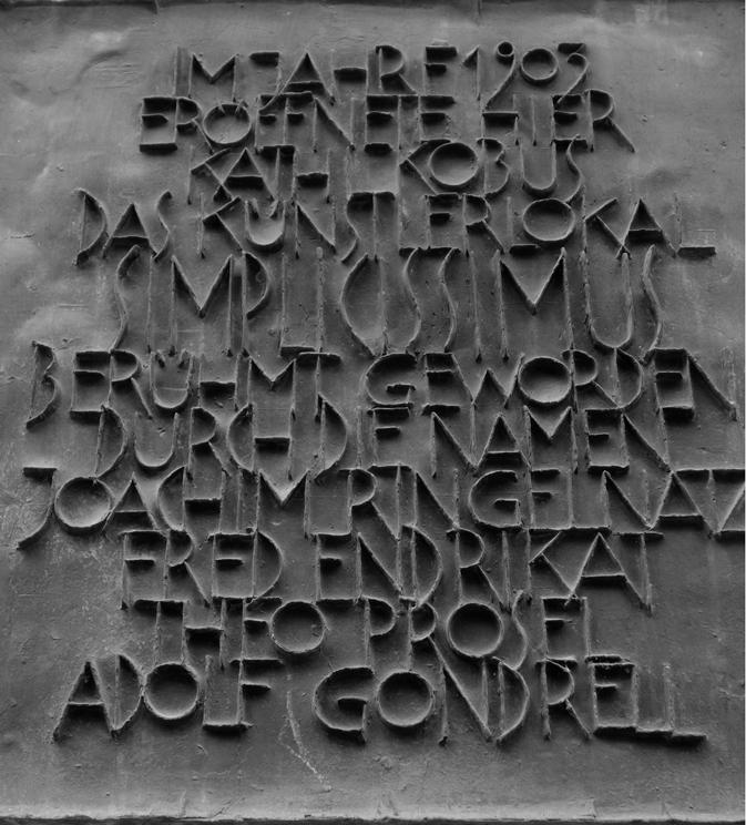Schild des Künstlerlokals Simplicissimus (Tuerkenstraße Muenchen)